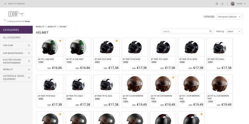 EEXAR Marketplace: Online Catalog